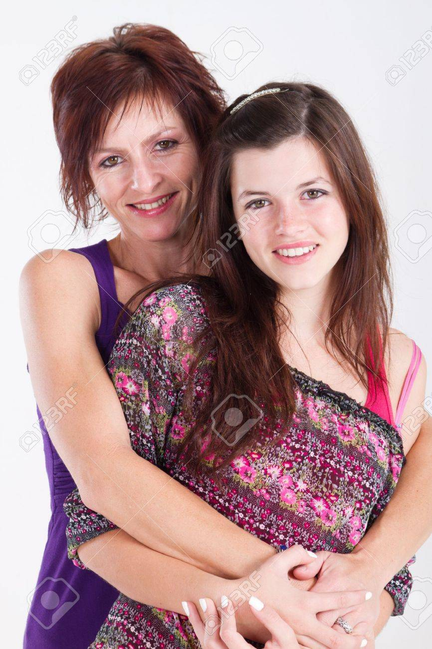 loving teen daughter and middle aged mom Stock Photo - 7940120