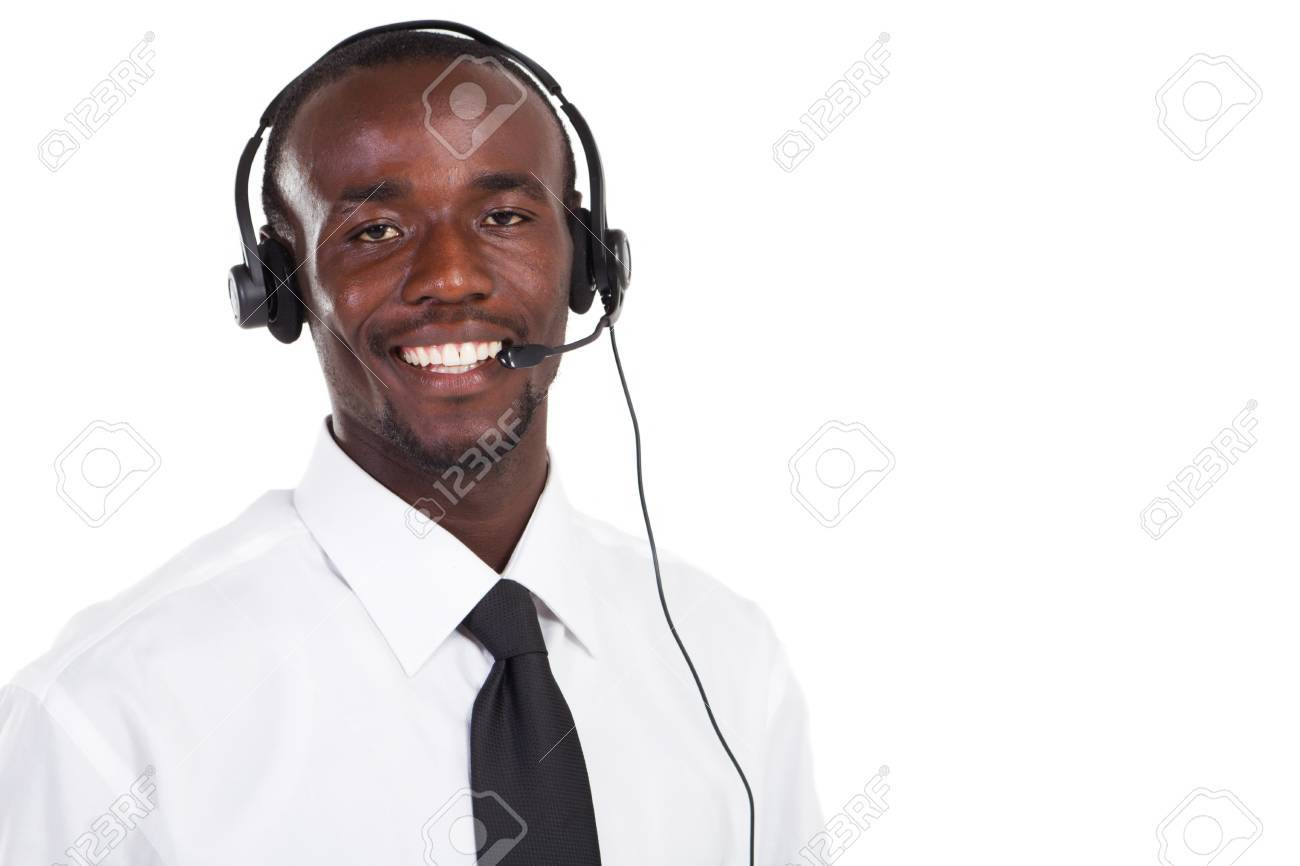 african male telephone operator Stock Photo - 8306633