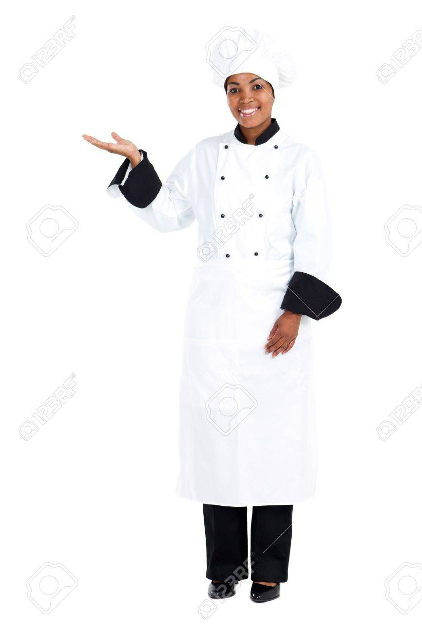 african american female chef Stock Photo - 8776850