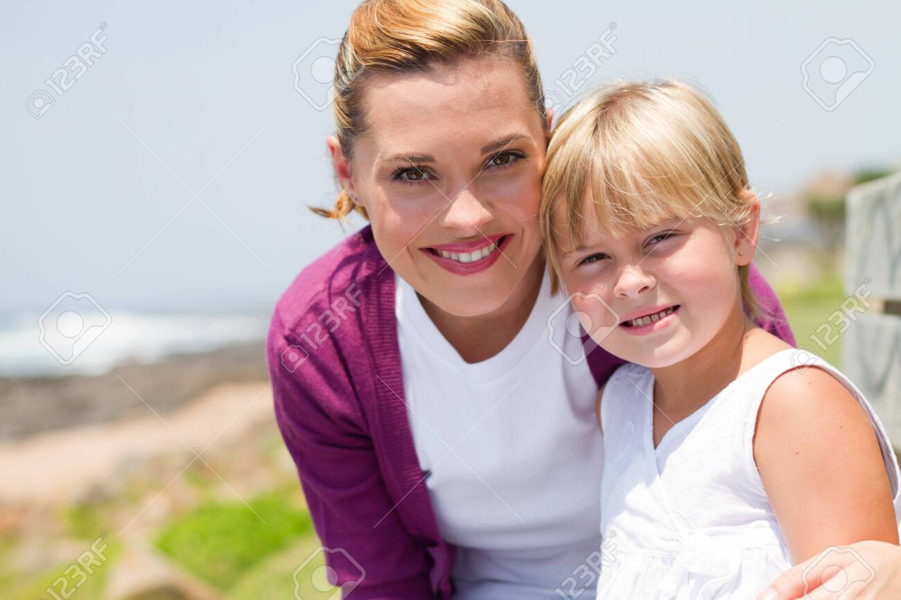 beautiful young mother and daughter Stock Photo - 8993450