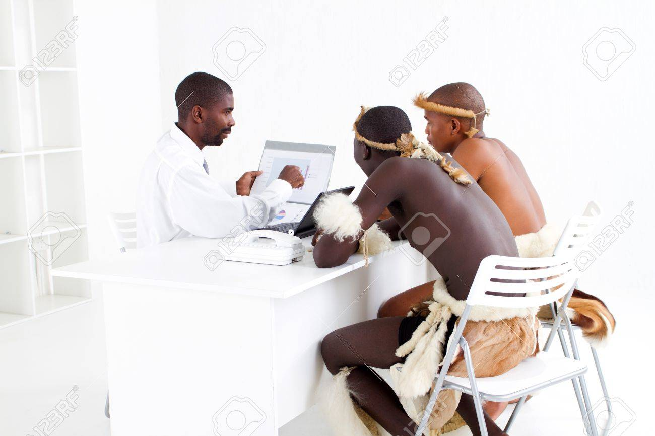 modern and traditional african business meeting Stock Photo - 9091747