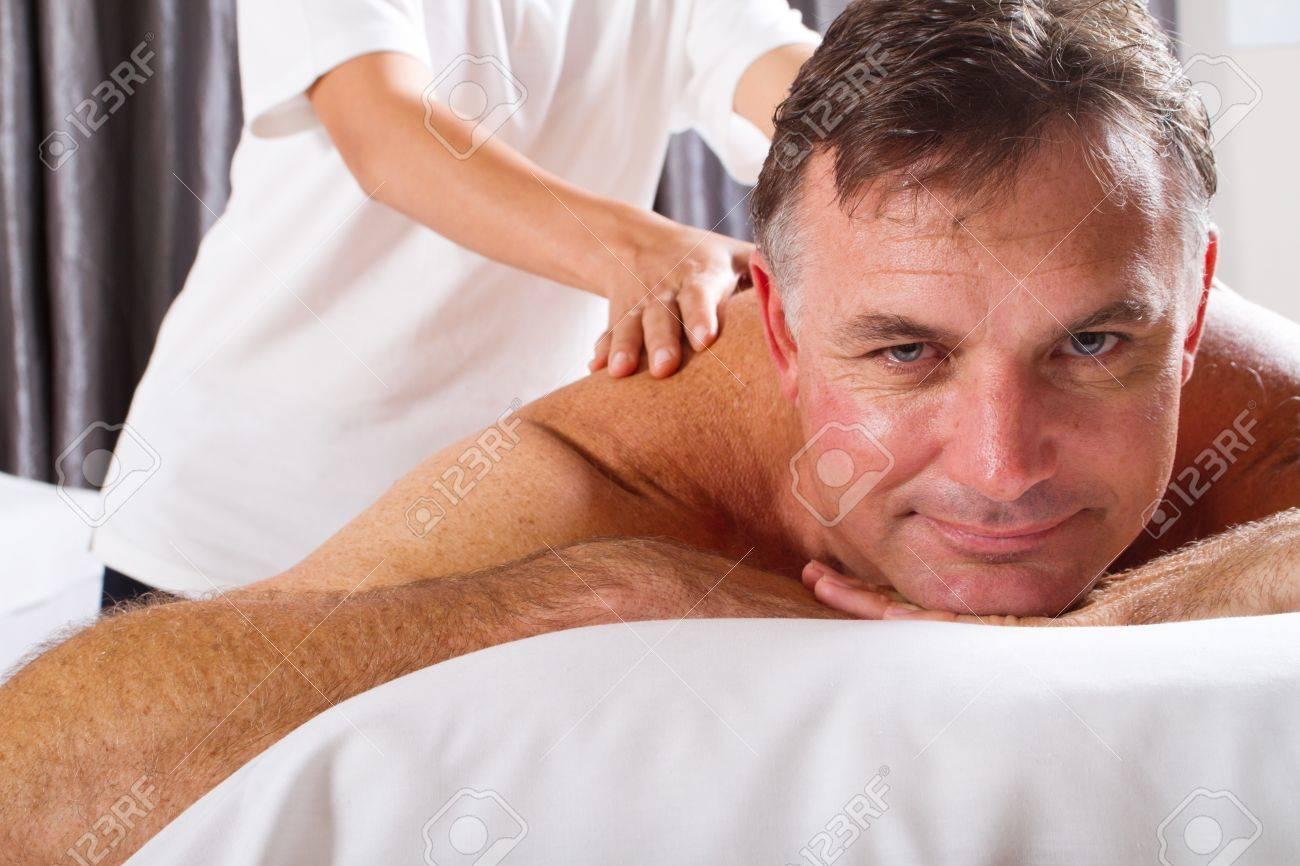 mature man having massage at spa salon Stock Photo - 9526544