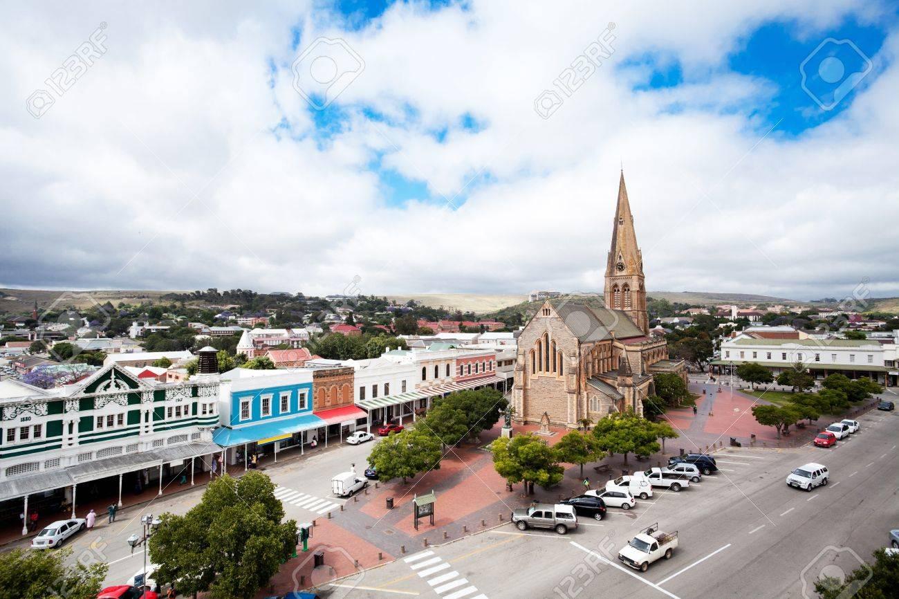 俯瞰グラハムズタウン、南アフリ...