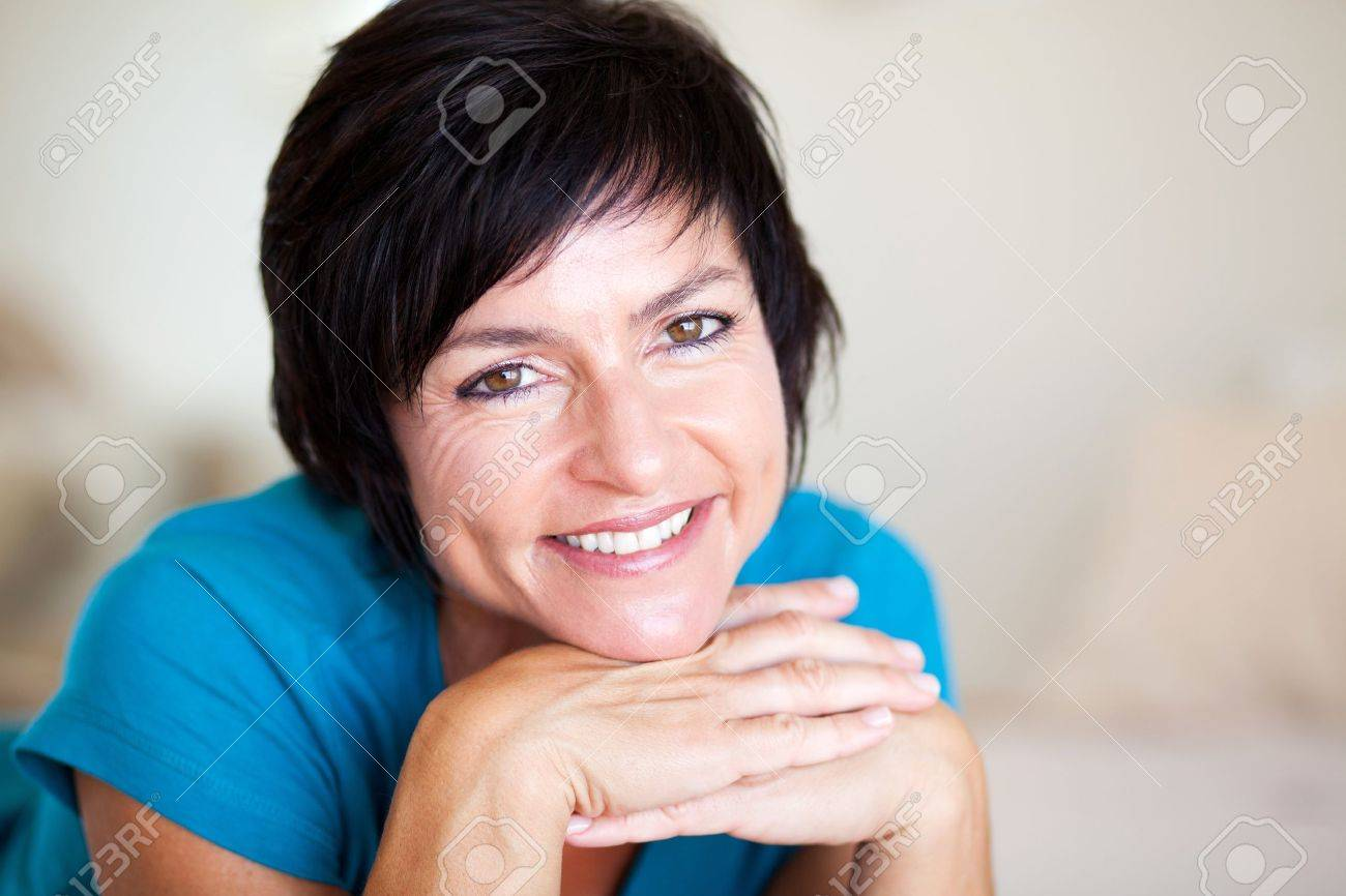 closeup portrait of elegant middle aged woman Stock Photo - 12728525