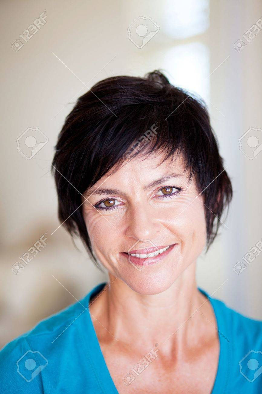 elegant middle aged woman closeup portrait Stock Photo - 12728485
