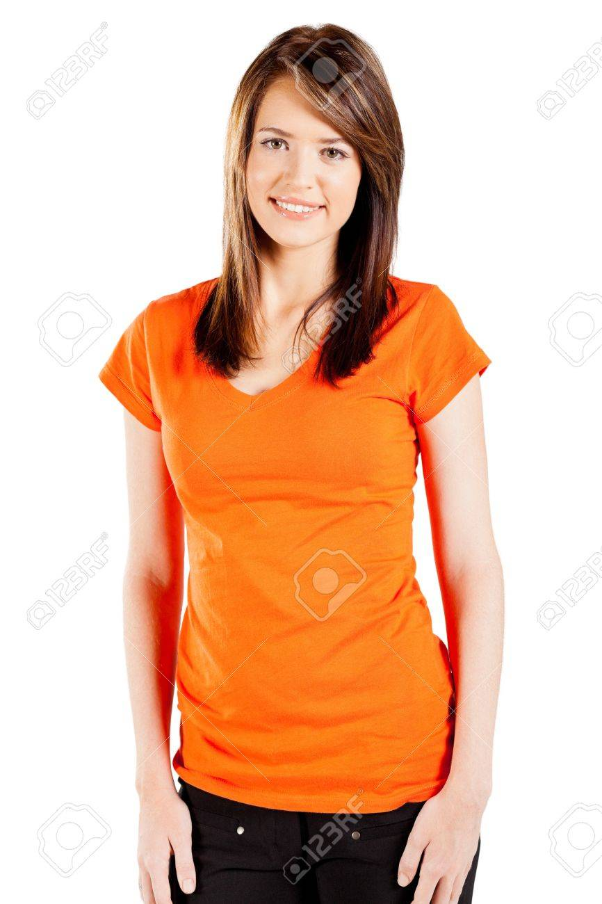 cute teen girl over white background Stock Photo - 13058613
