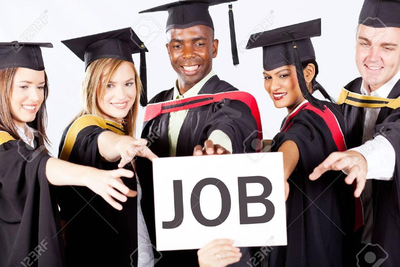 group of graduates grab job Stock Photo - 13058745