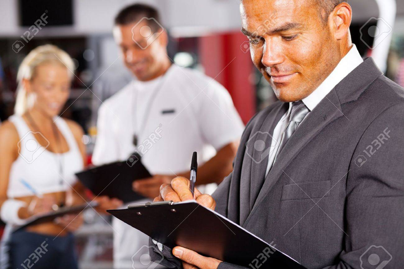 closeup of male gym manager Stock Photo - 13738676