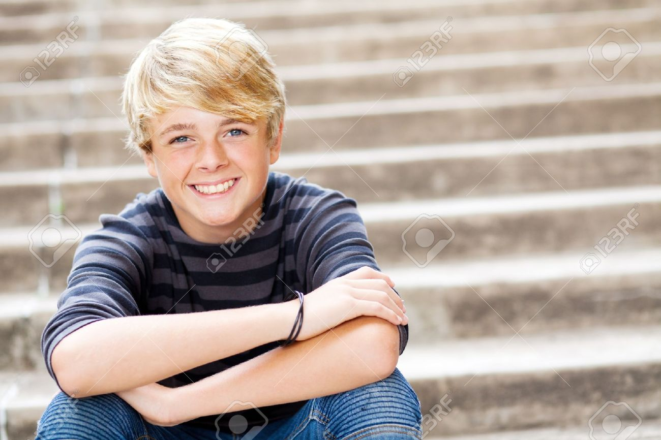 cute teen boy closeup portrait Stock Photo - 13738702