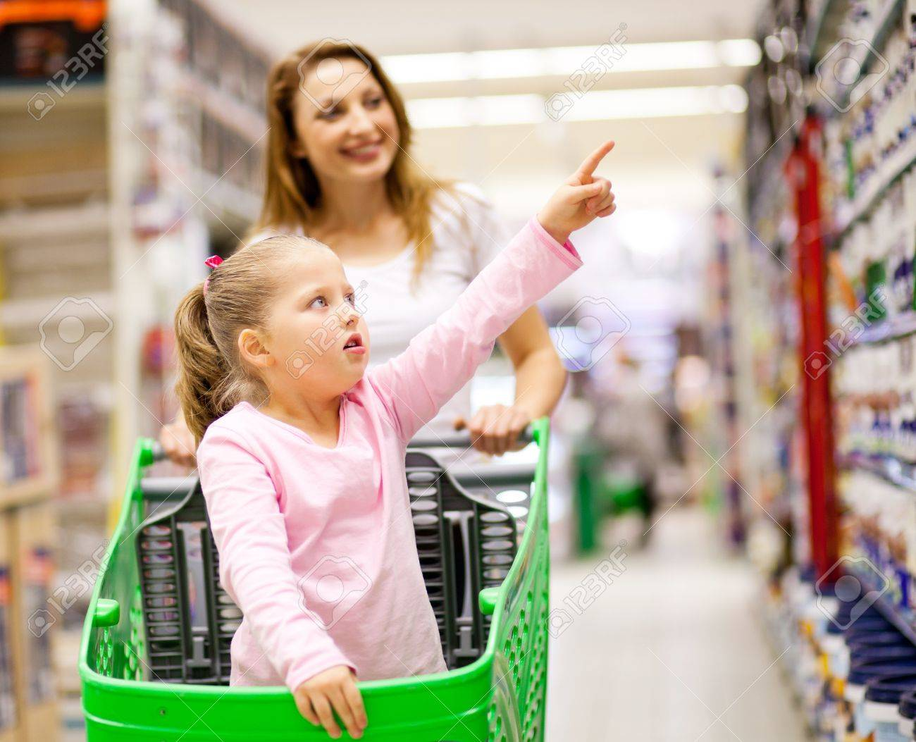 mother and daughter in supermaket Stock Photo - 13954368