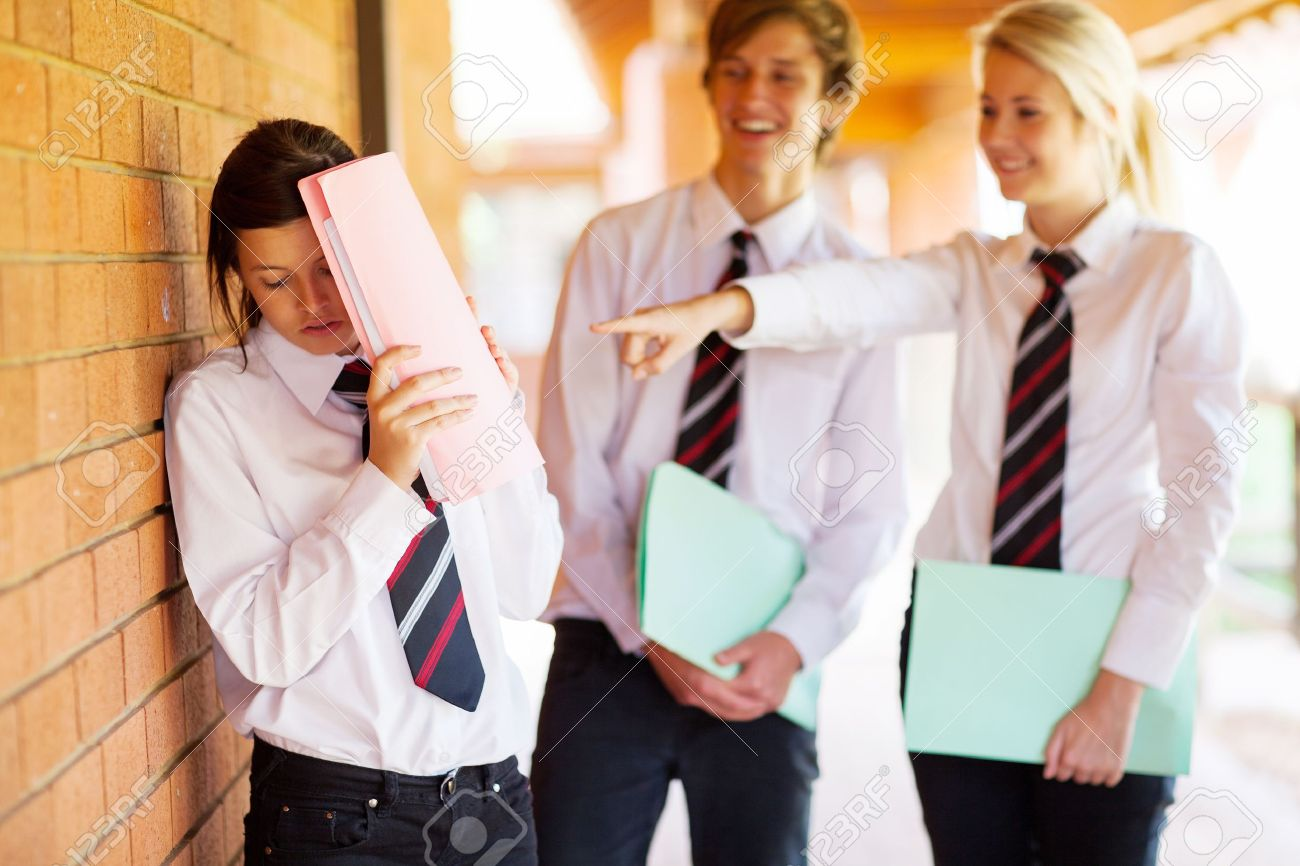 high school girl being bullied by classmates Stock Photo - 15893409