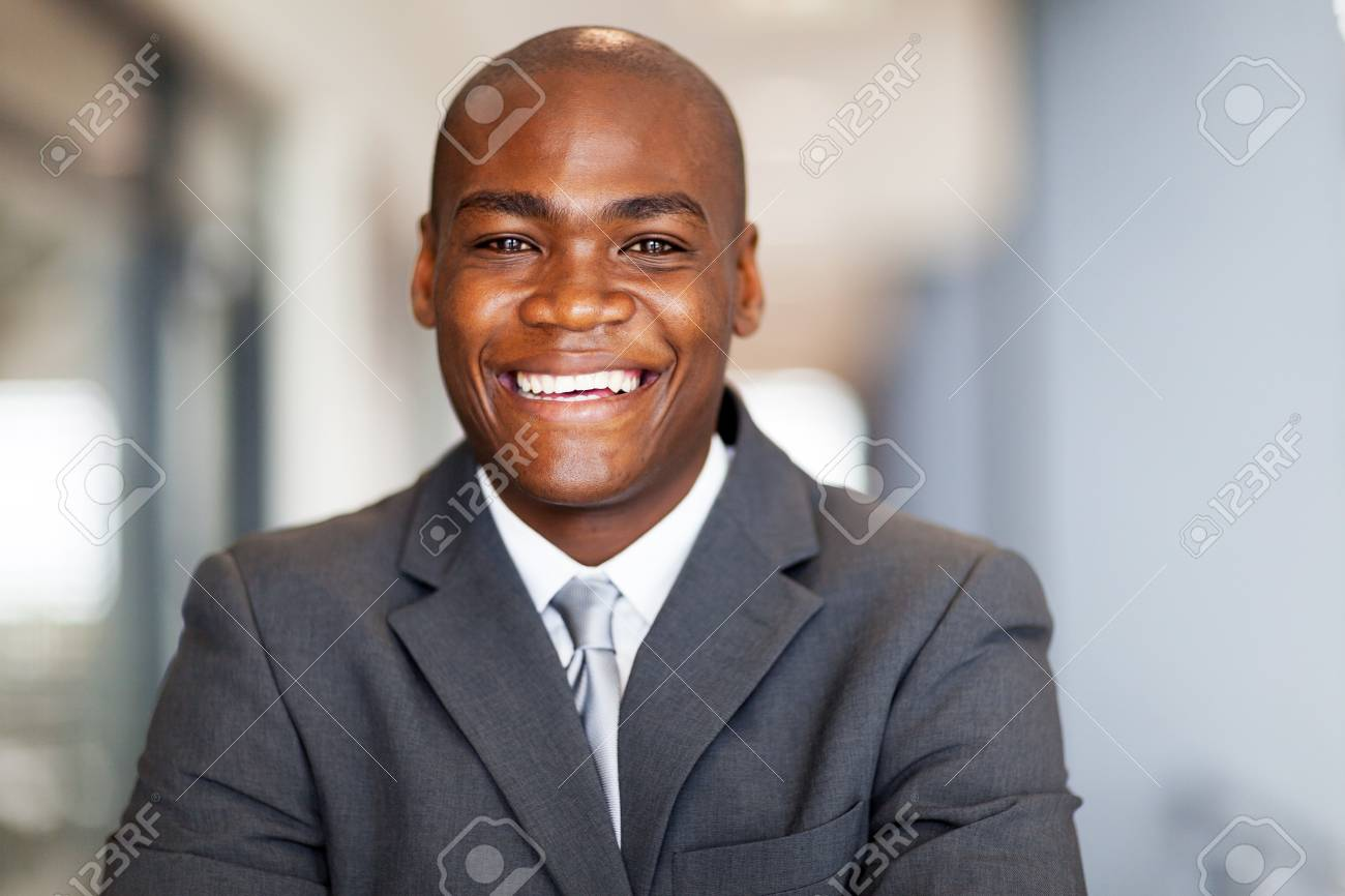 smiling african american businessman closeup portrait Stock Photo - 16013842