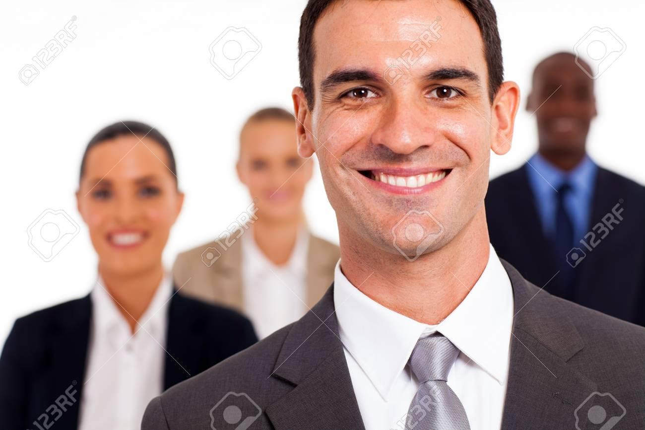 handsome businessman and colleagues studio portrait Stock Photo - 17781825