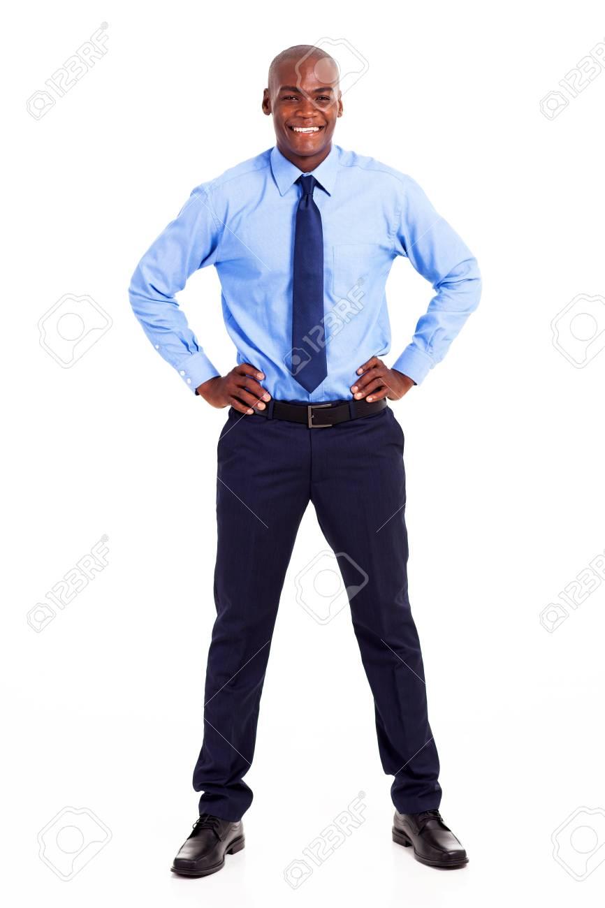 happy african businessman studio portrait isolated on white Stock Photo - 18208723