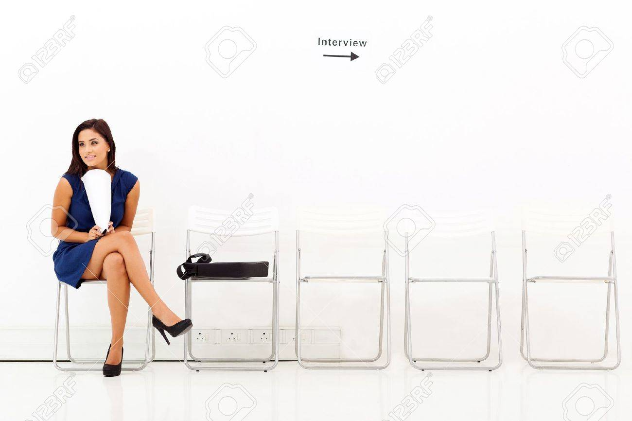 young career w waiting for job interview stock photo picture stock photo young career w waiting for job interview