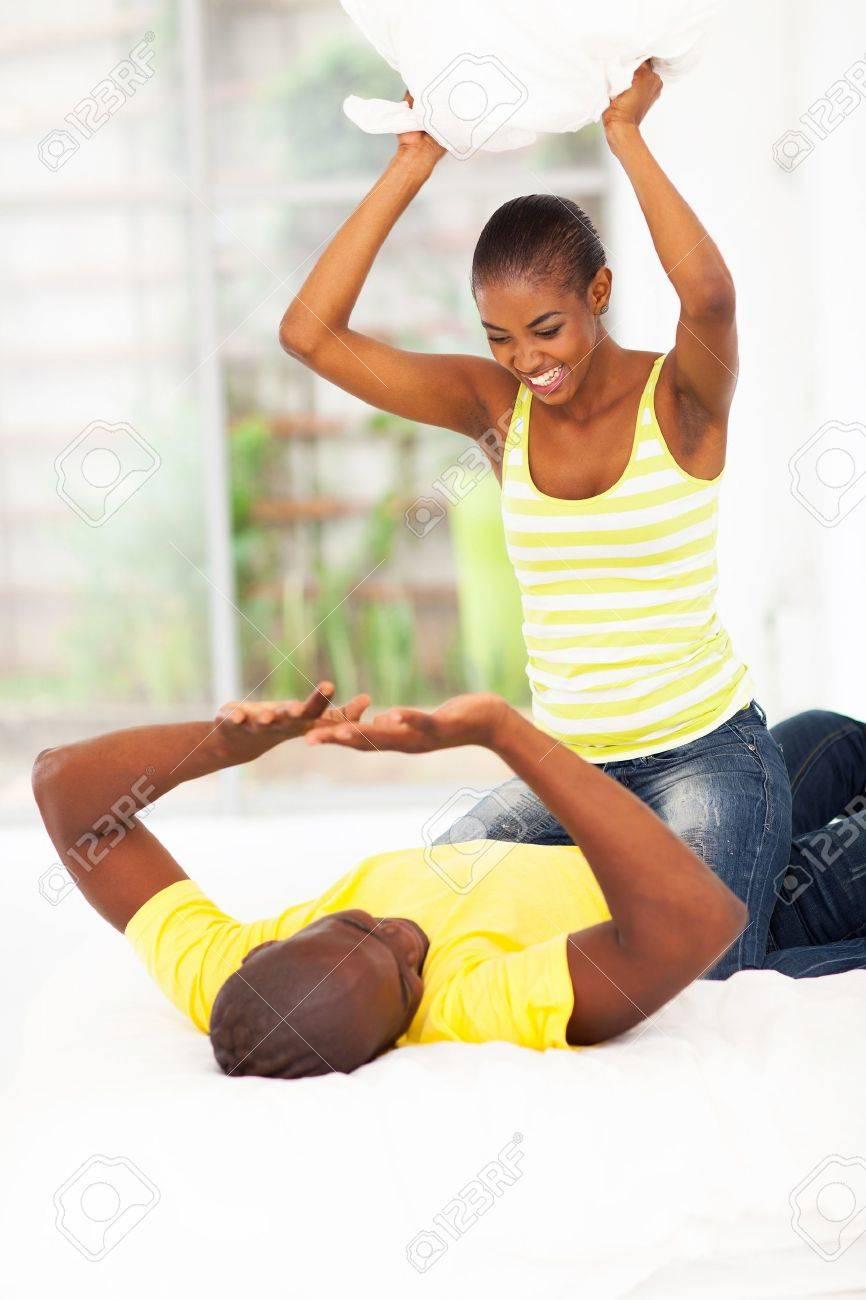 Man Shaped Pillow Pillow Fight Man Woman Stock Photos Royalty Free Pillow Fight Man