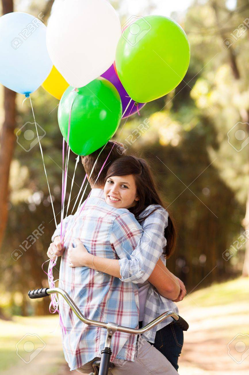 sweet teenage couple hugging outdoors Stock Photo   20905066. Sweet Teenage Couple Hugging Outdoors Stock Photo  Picture And