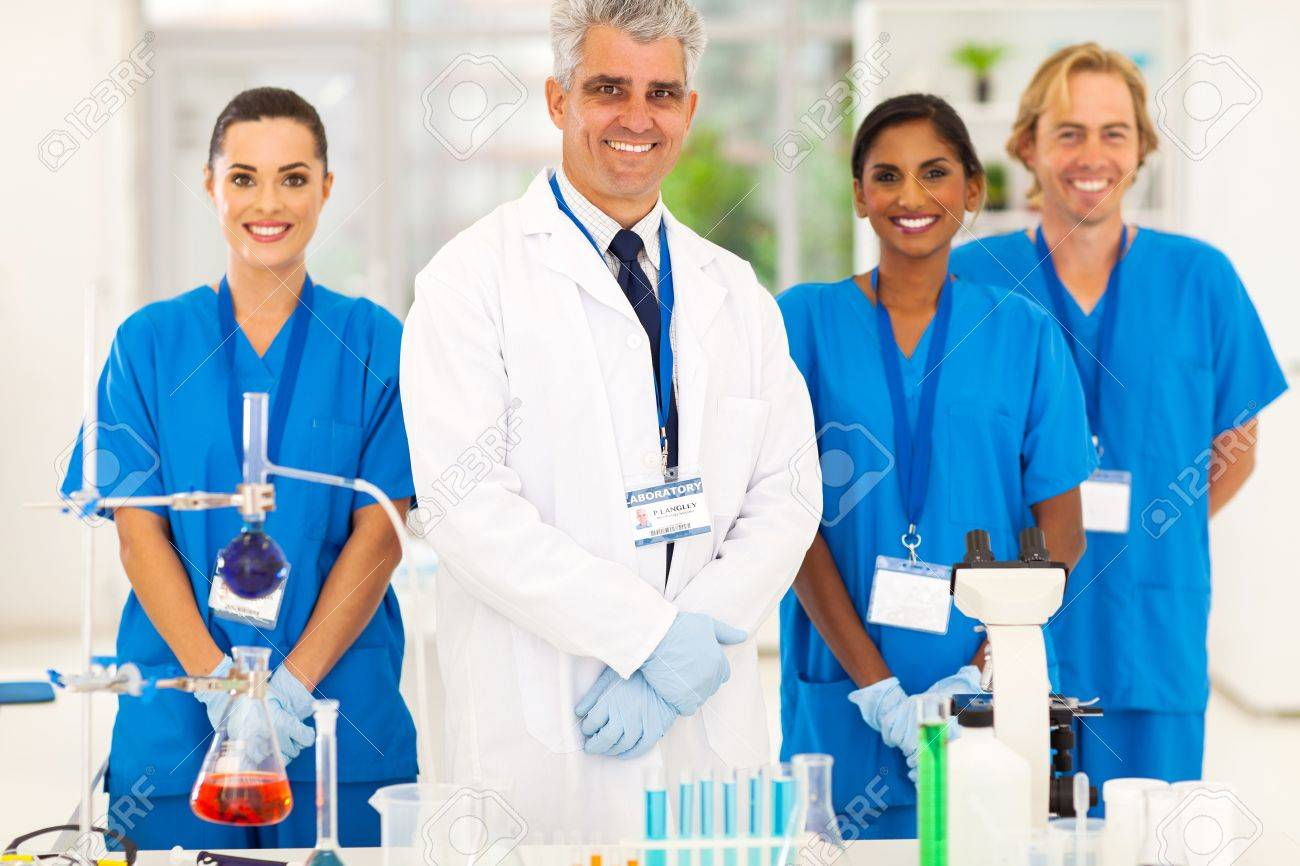 Senior Microbiology Specialist With Science Student In The Lab Stock Photo,  Picture And Royalty Free Image. Image 21122998.