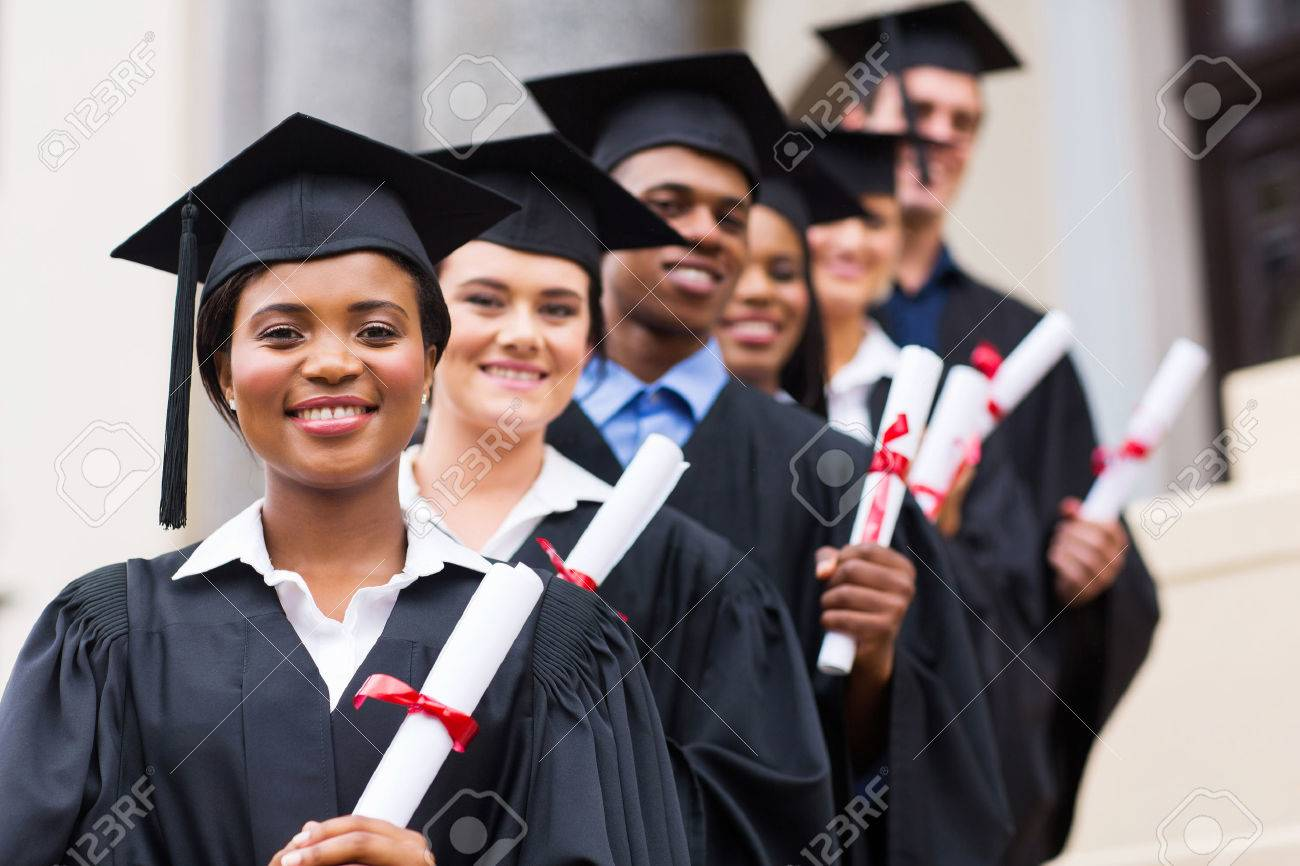college graduation stock photos pictures royalty college college graduation happy group of university graduates at graduation ceremony