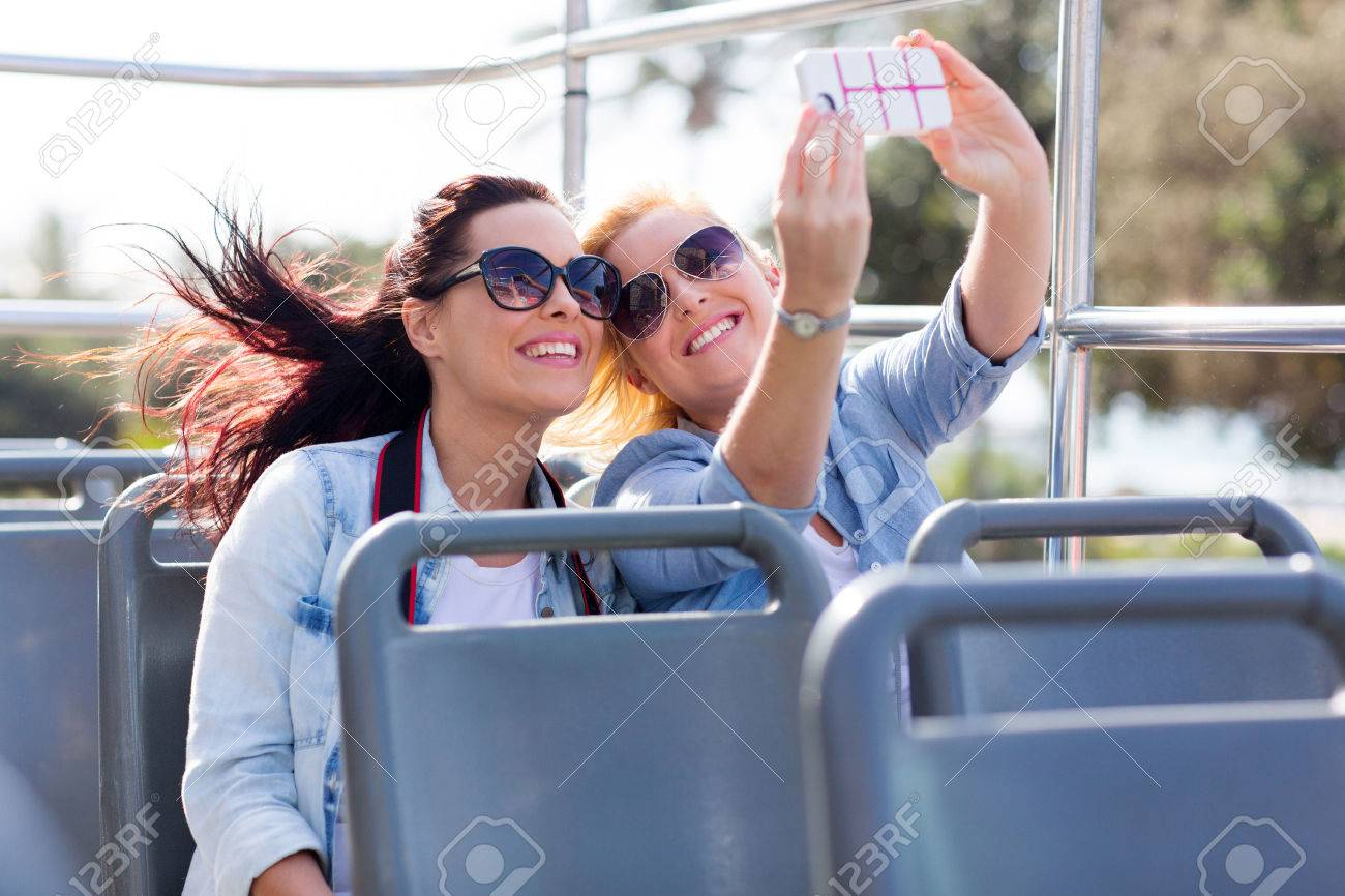 Image result for taking selfies in a bus