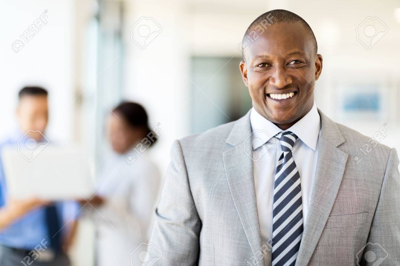 good looking african american business executive - 53100699