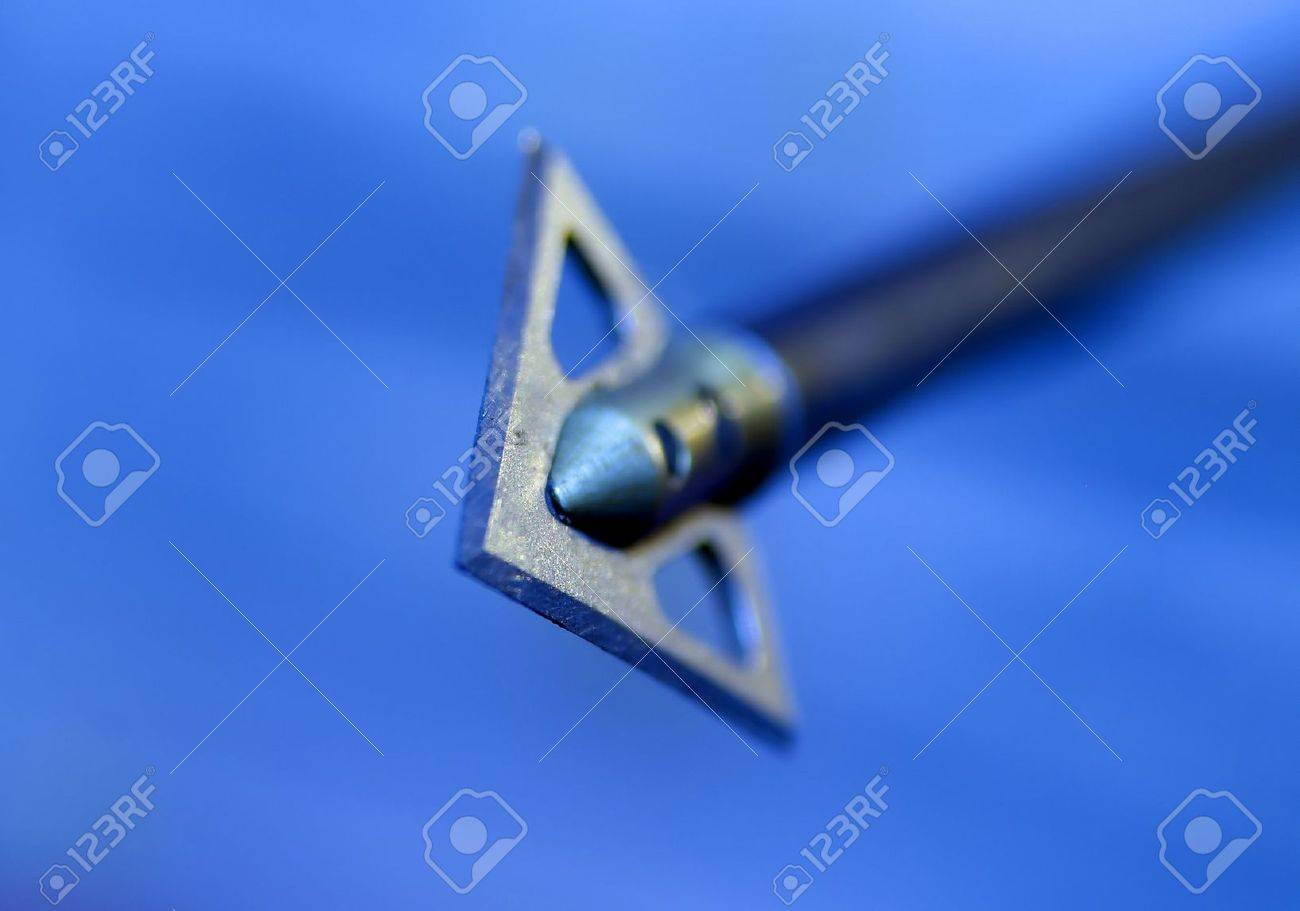 Shallow depth of field image of an arrow flying in the direction of the viewer. Stock Photo - 8111869