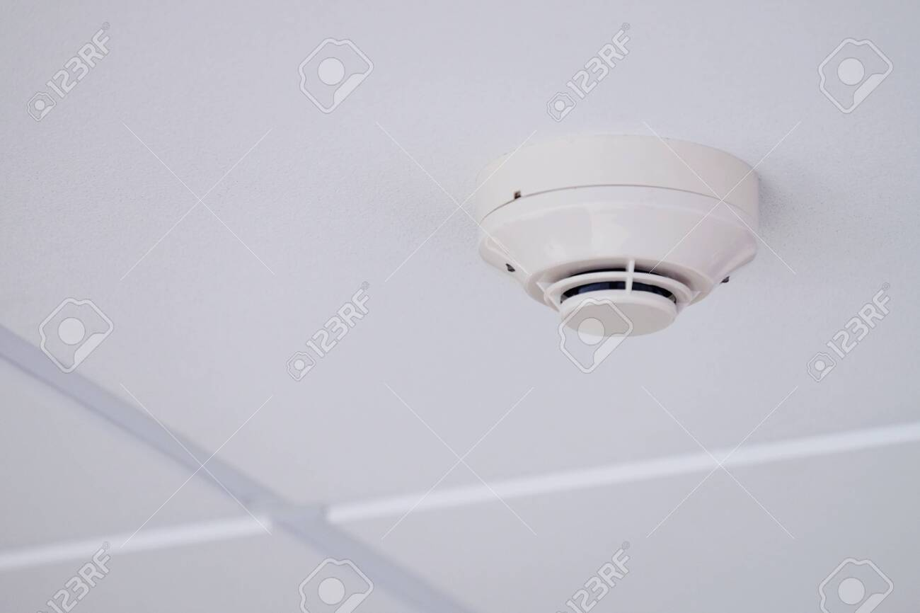 White Smoke Detector Installed On Tile Ceiling Stock Photo Picture And Royalty Free Image Image 132631315,Kitchen Countertop Paint Home Depot