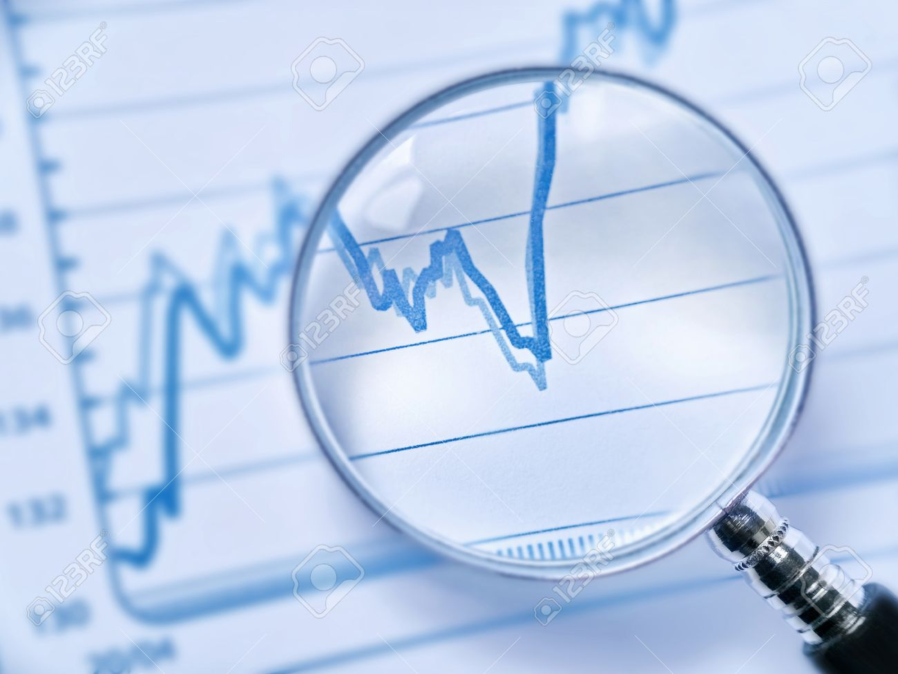 conceptual photography of a statistical analysis stock photo