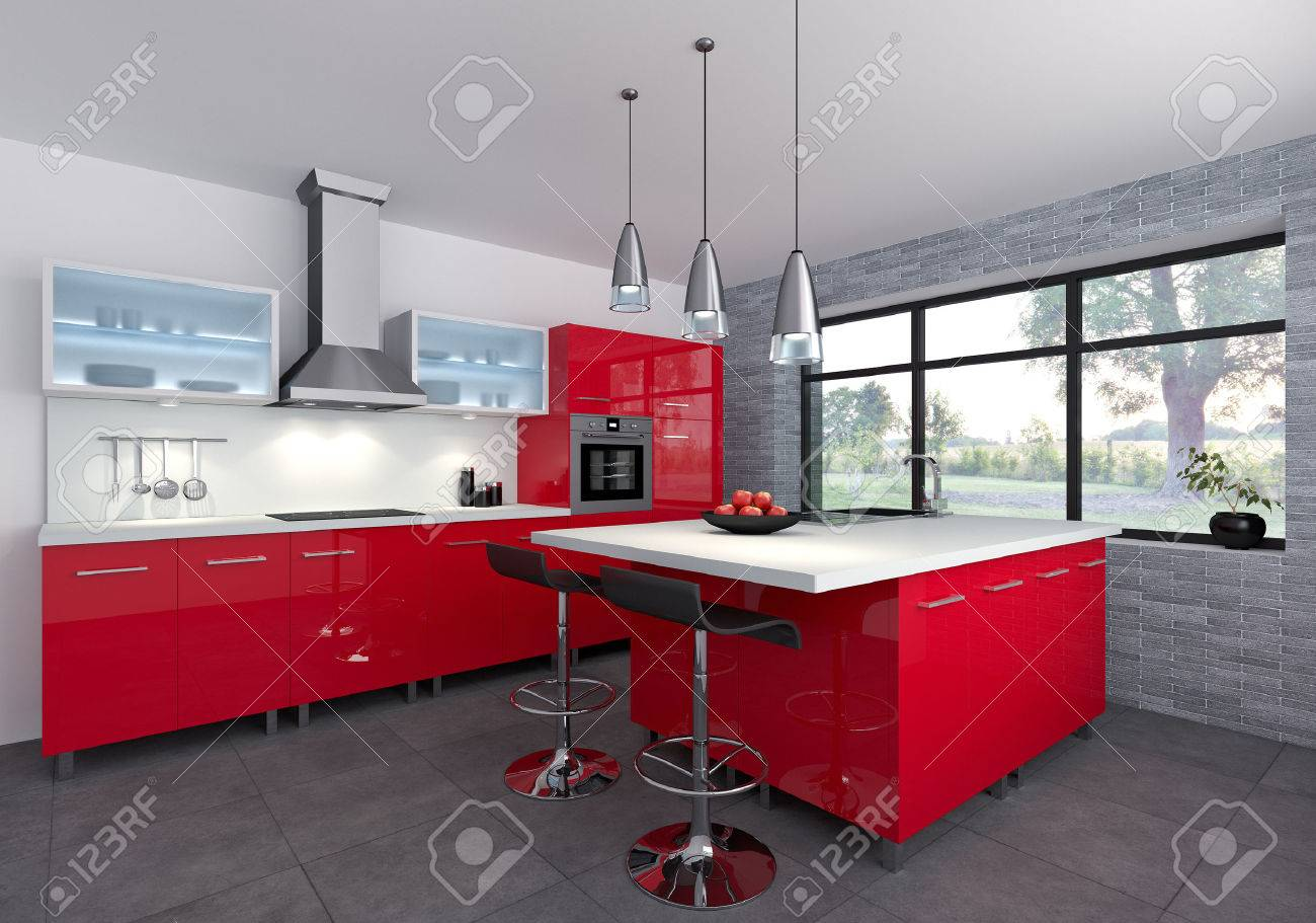 Awesome Cucina Rossa Laccata Pictures - Skilifts.us - skilifts.us