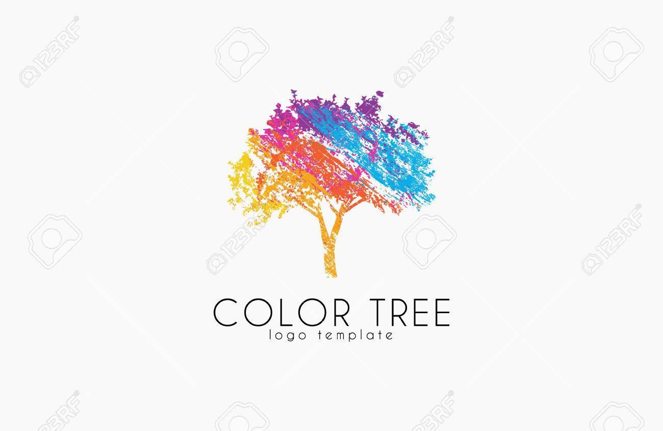 tree logo creative logo nature logo color tree logo design