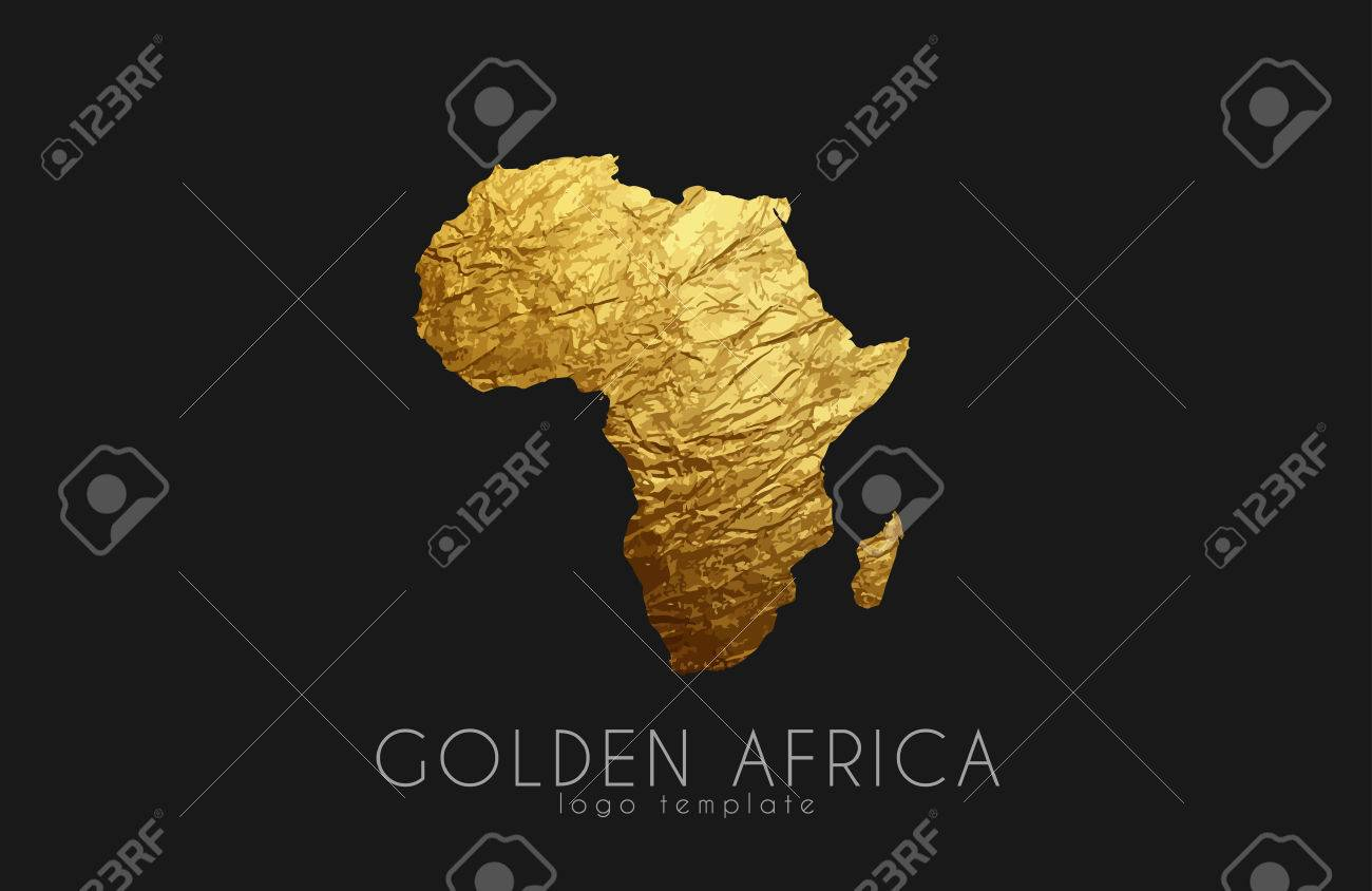 Africa. Golden Africa logo. Creative Africa logo design - 60635318