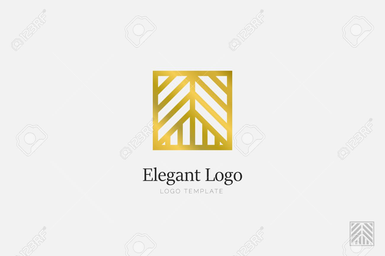 Minimalistic Elegant Logo. Luxury emblem logo template - 76335637