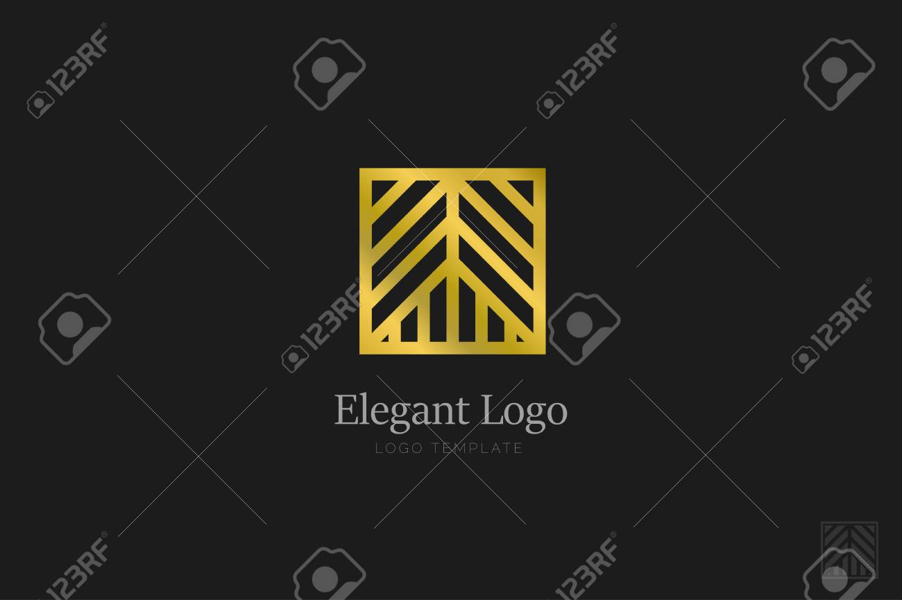 Minimalistic Elegant Logo. Luxury emblem template - 76335638