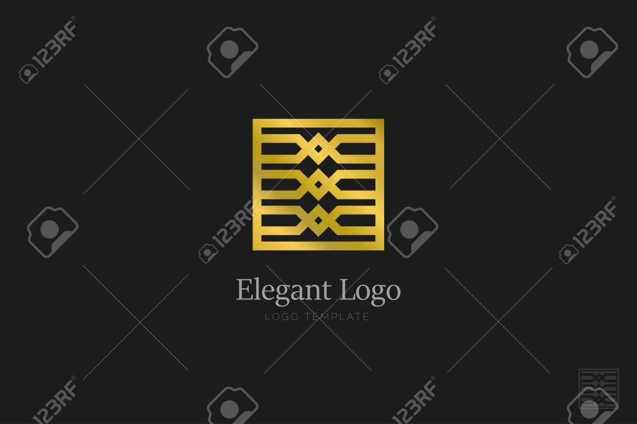 Minimalistic Elegant Logo. Luxury emblem template - 76335644