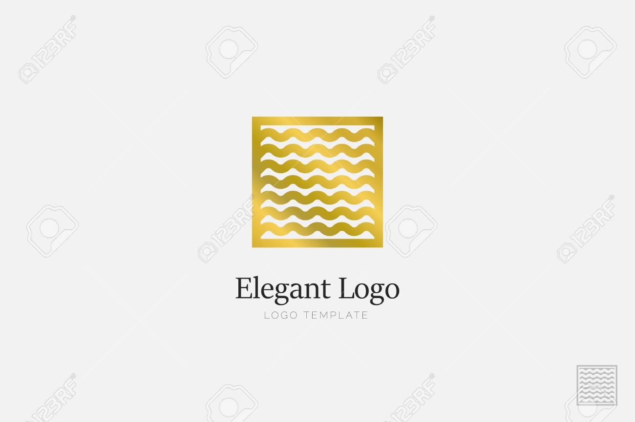 Minimalistic Elegant Logo. Luxury emblem logo template - 76335654