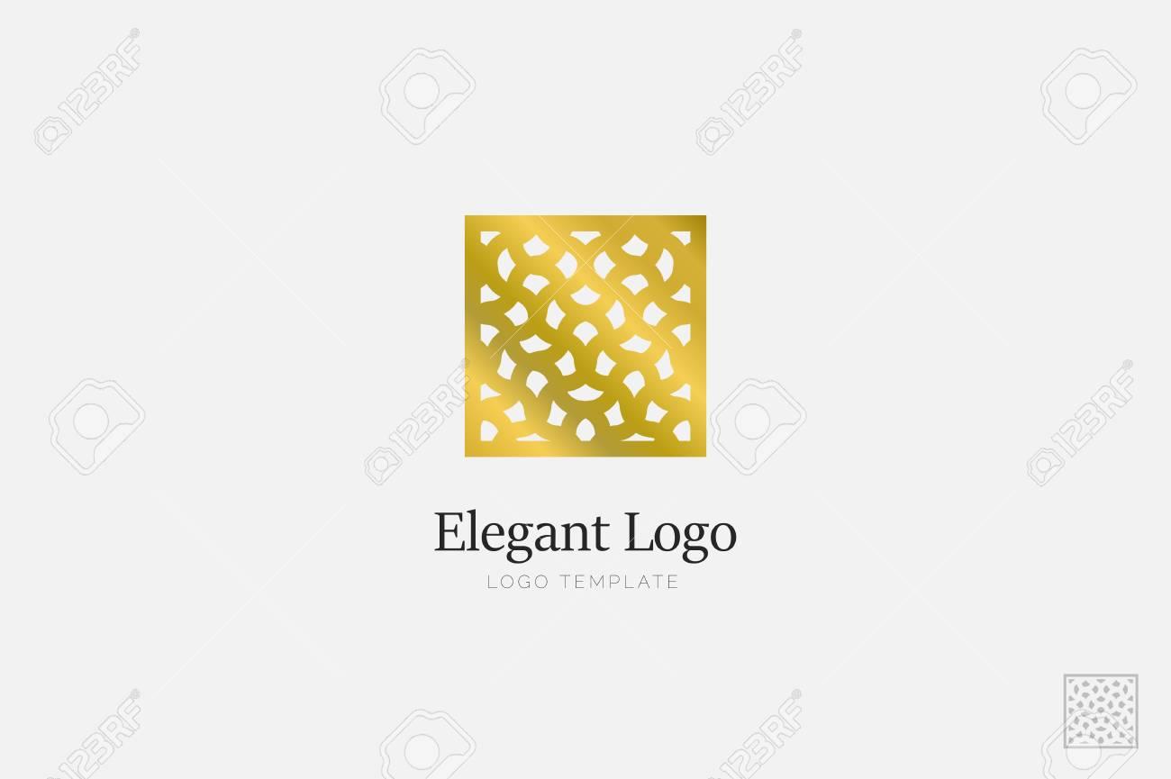 Minimalistic Elegant Logo. Luxury emblem logo template - 76335655