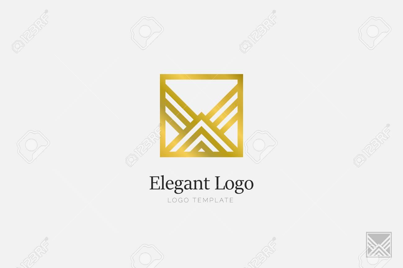 Minimalistic Elegant Logo. Luxury emblem template - 76335666