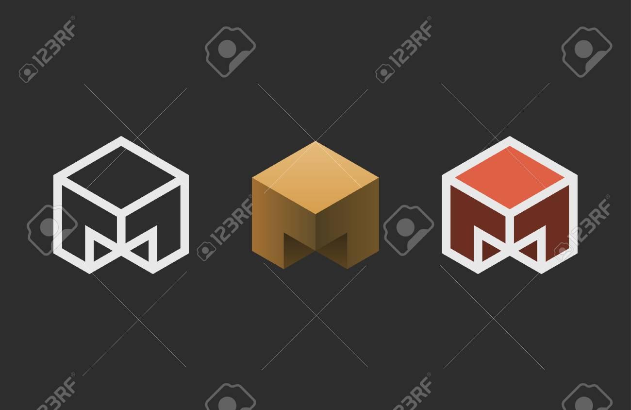 Hexagon logo design. Creative emblem template. Studio logotype - 76501547