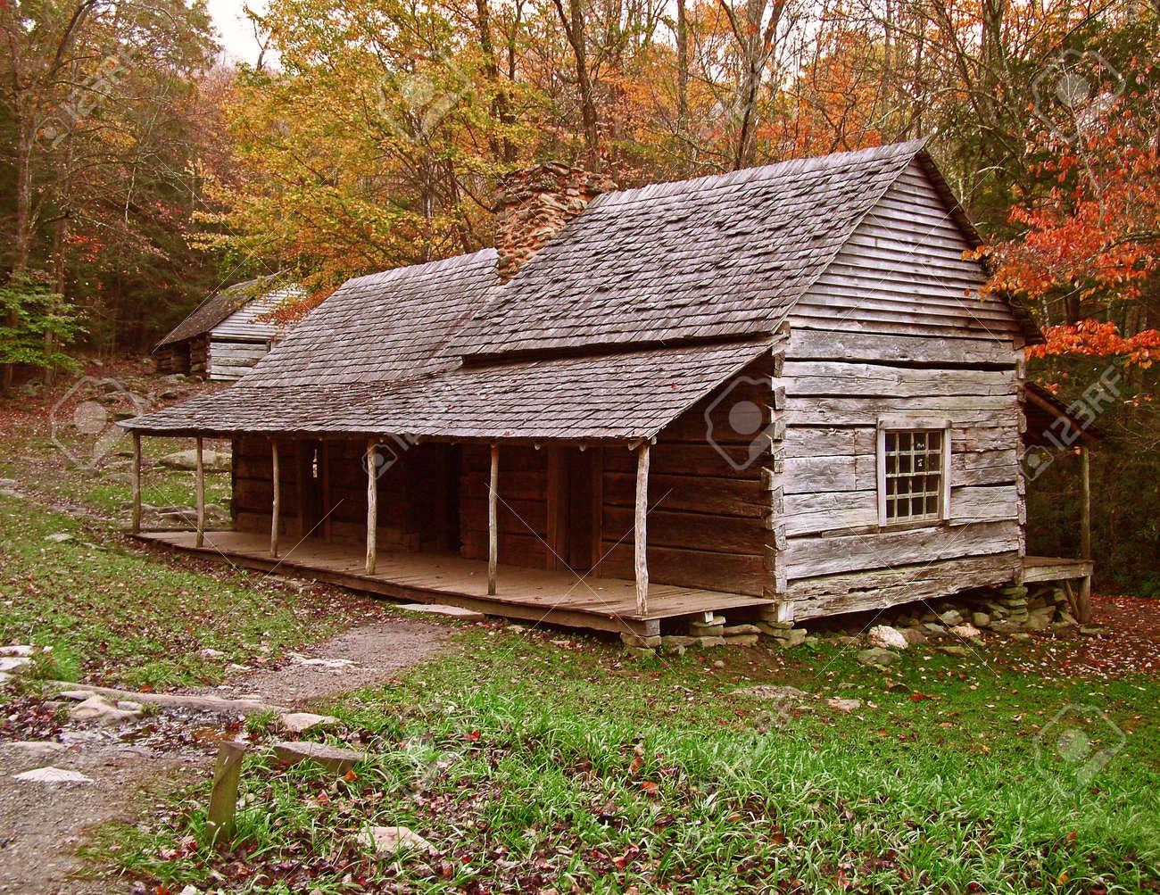 1800's Log Cabin Stock Photo - 231264