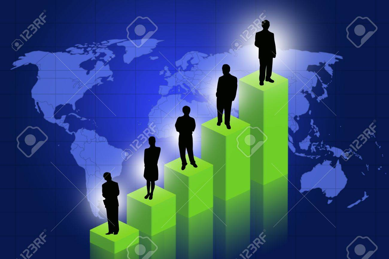 Chart with a map of the world Stock Photo - 10001316
