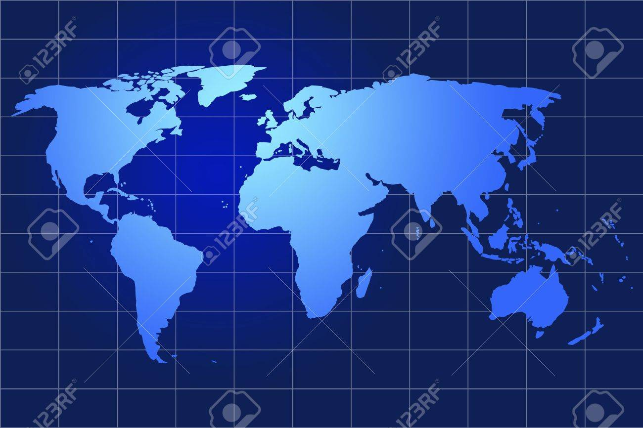 World Map Blue Background Model Data Source Nasa Stock Photo