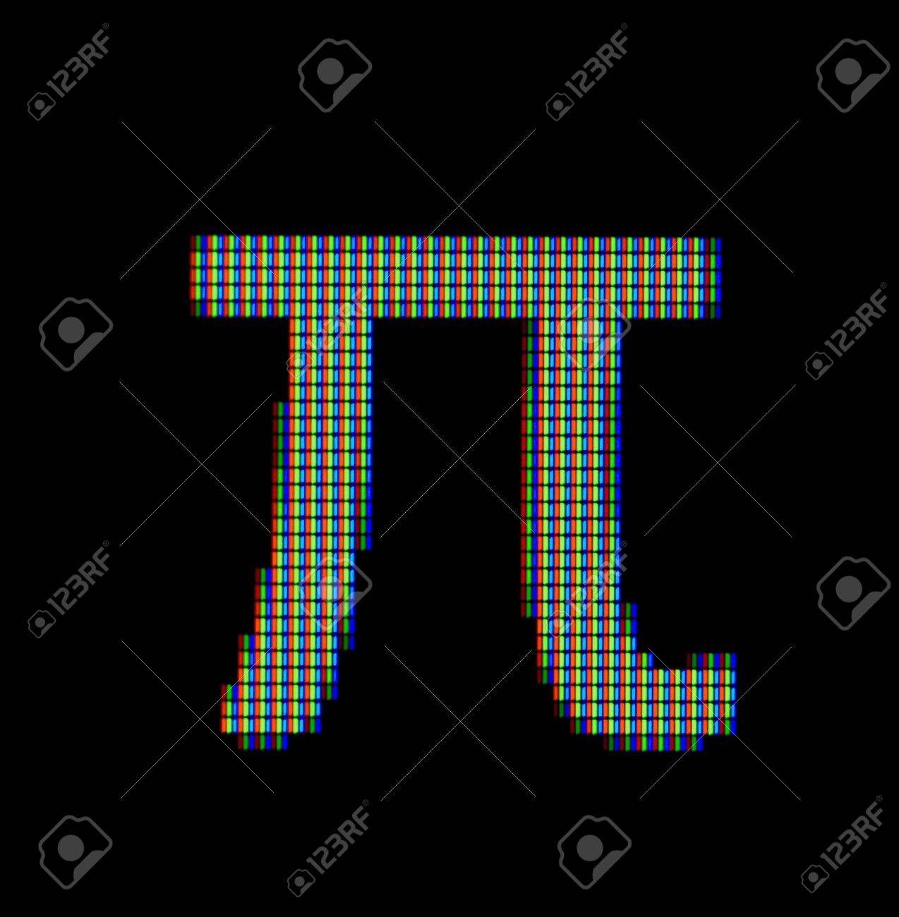 Close Up Of A Pi Symbol On A Computer Screen Stock Photo Picture