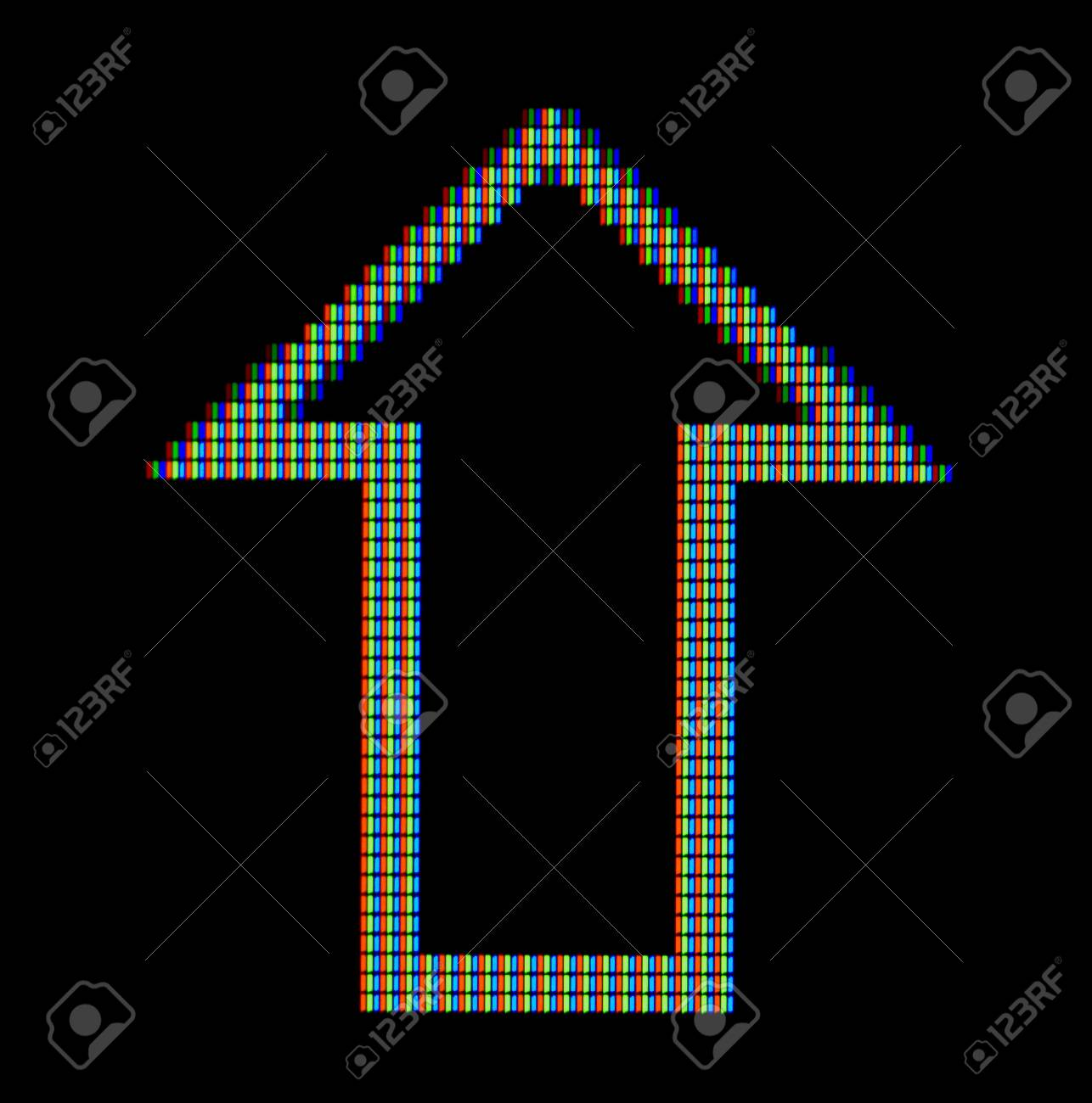 Close Up Of A Arrow Symbol On A Computer Screen Stock Photo Picture