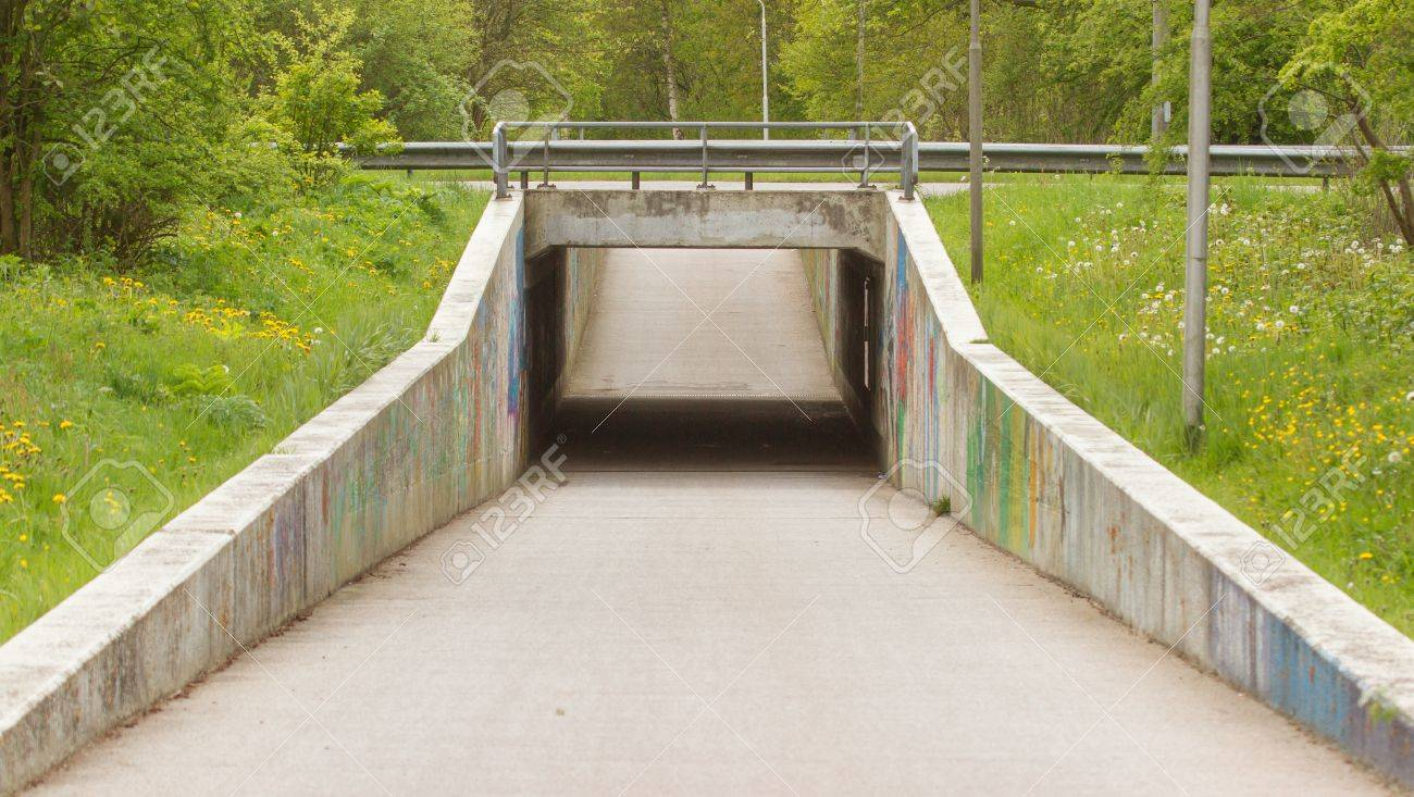 Shot of a tunnel for bicycles and pedestrians Stock Photo - 13661380