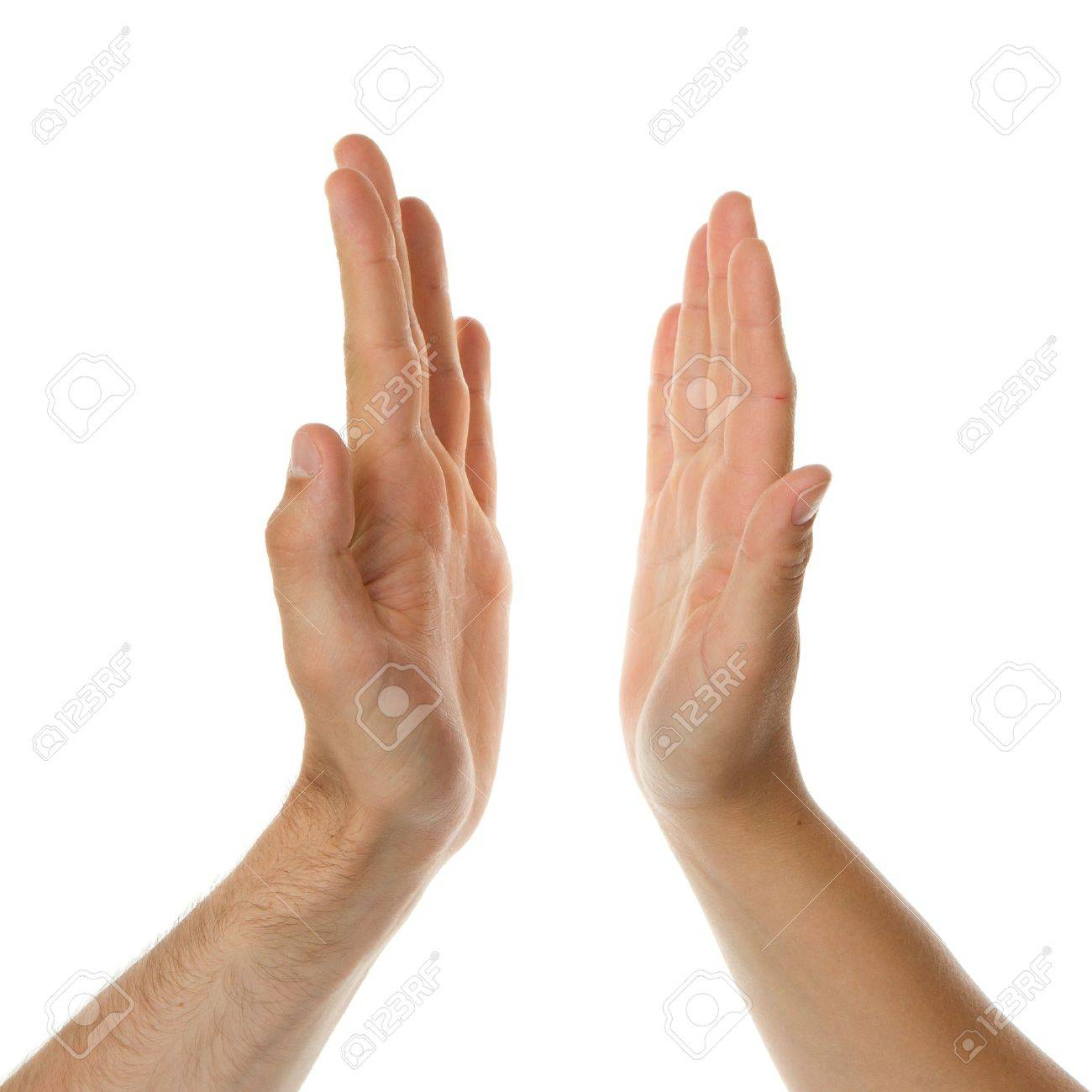 High five, mans hand and a womans hand Stock Photo - 13902713
