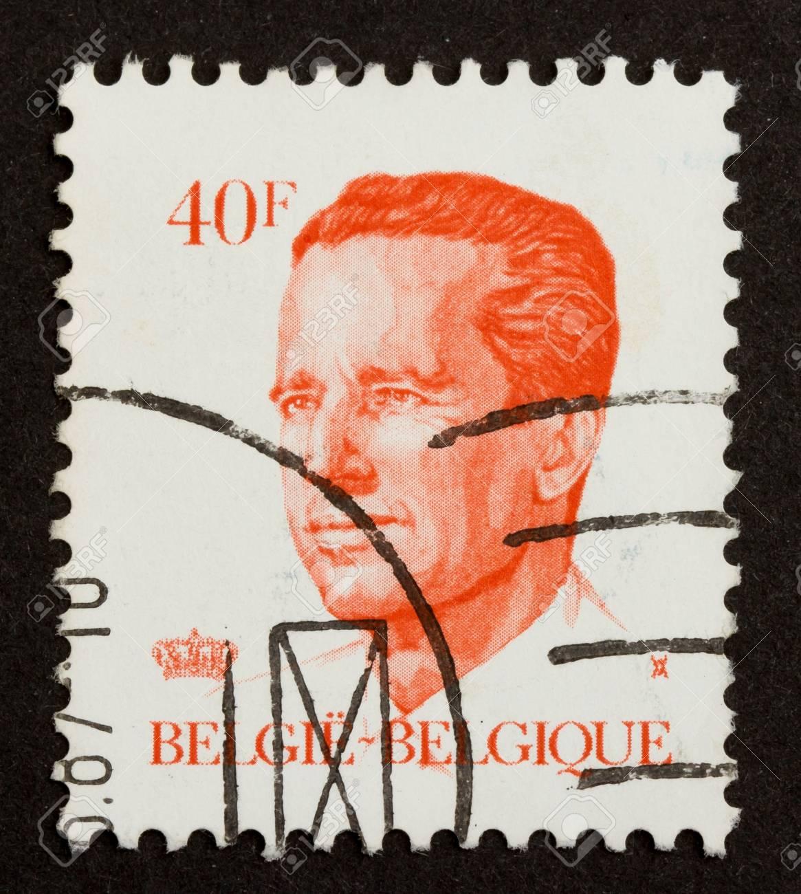 BELGIUM - CIRCA 1970: Stamp printed in Belgium shows the head of state, circa 1970 Stock Photo - 14430152