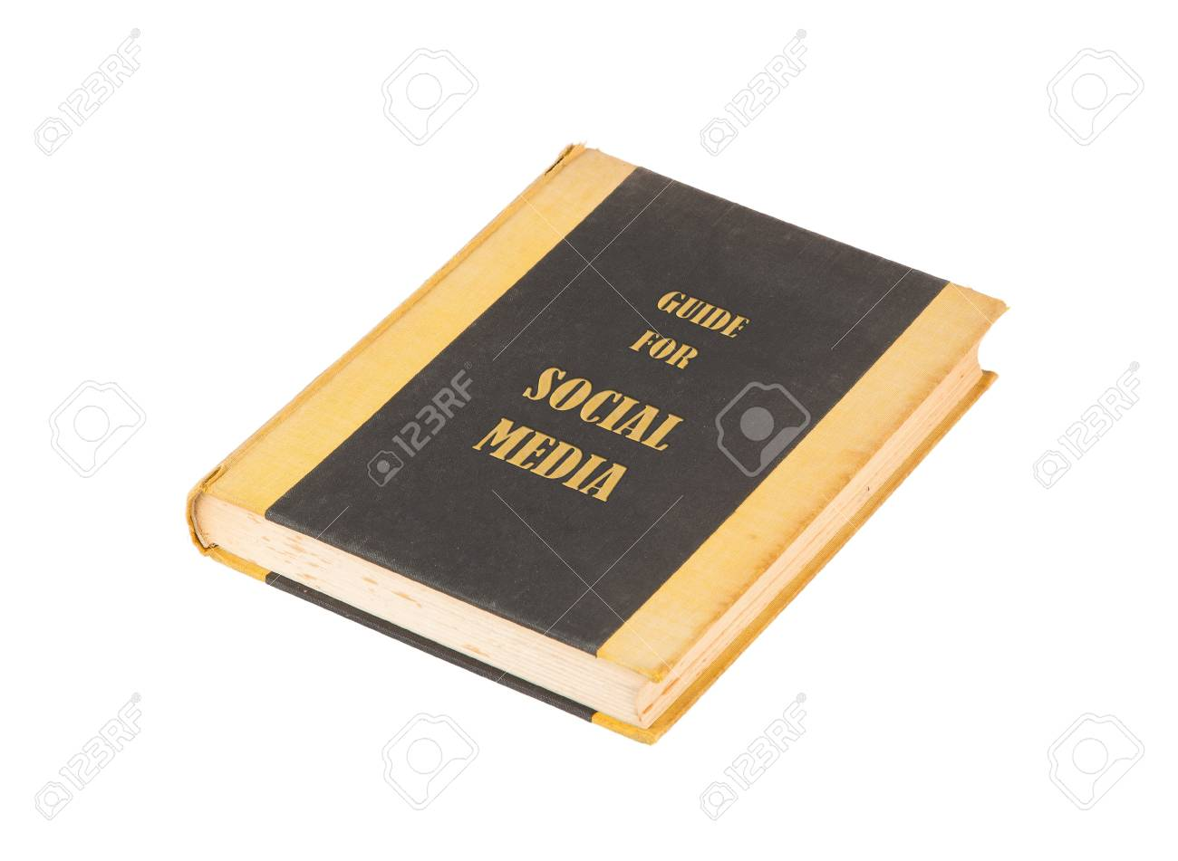 Old book with a social media concept title, white background Stock Photo - 17272642