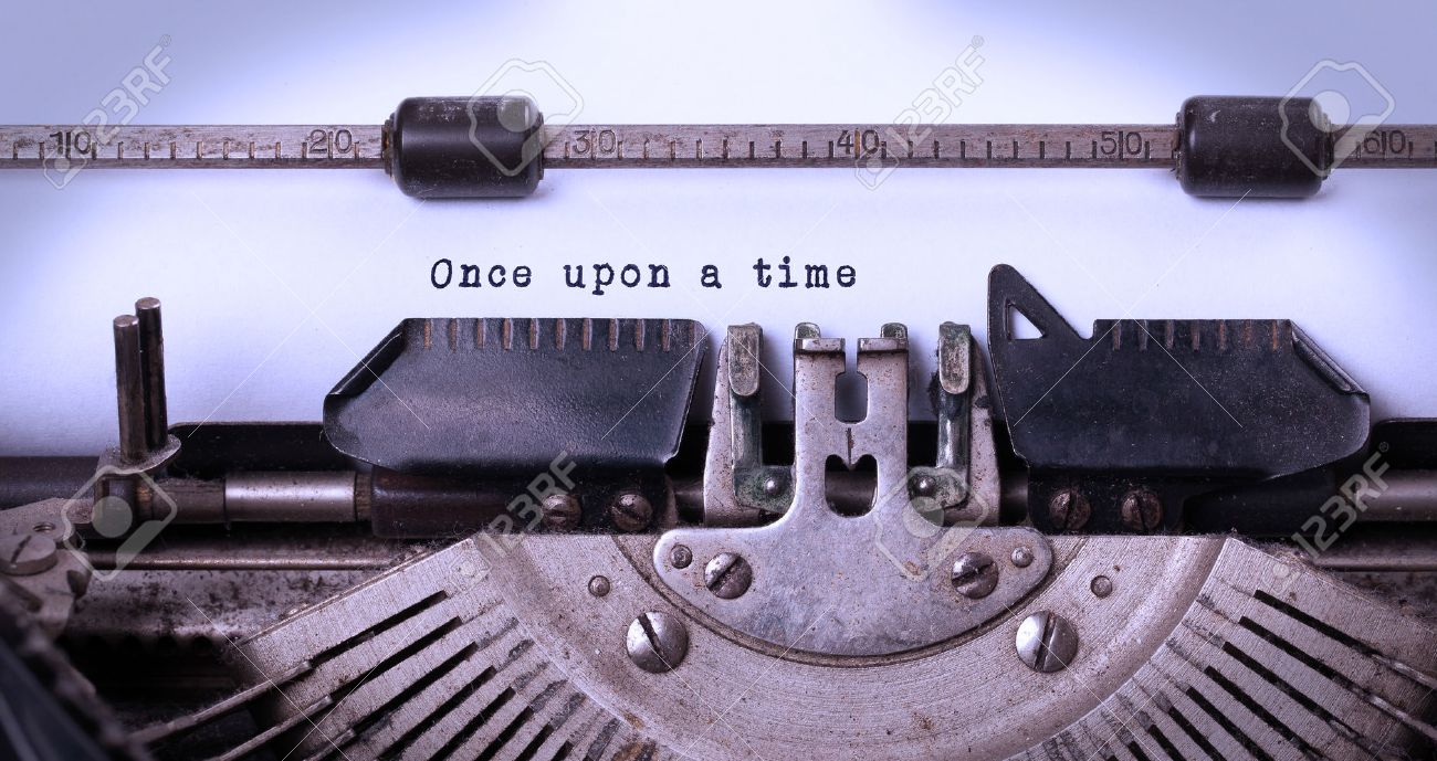 Vintage inscription made by old typewriter, once upon a time Stock Photo - 28468724