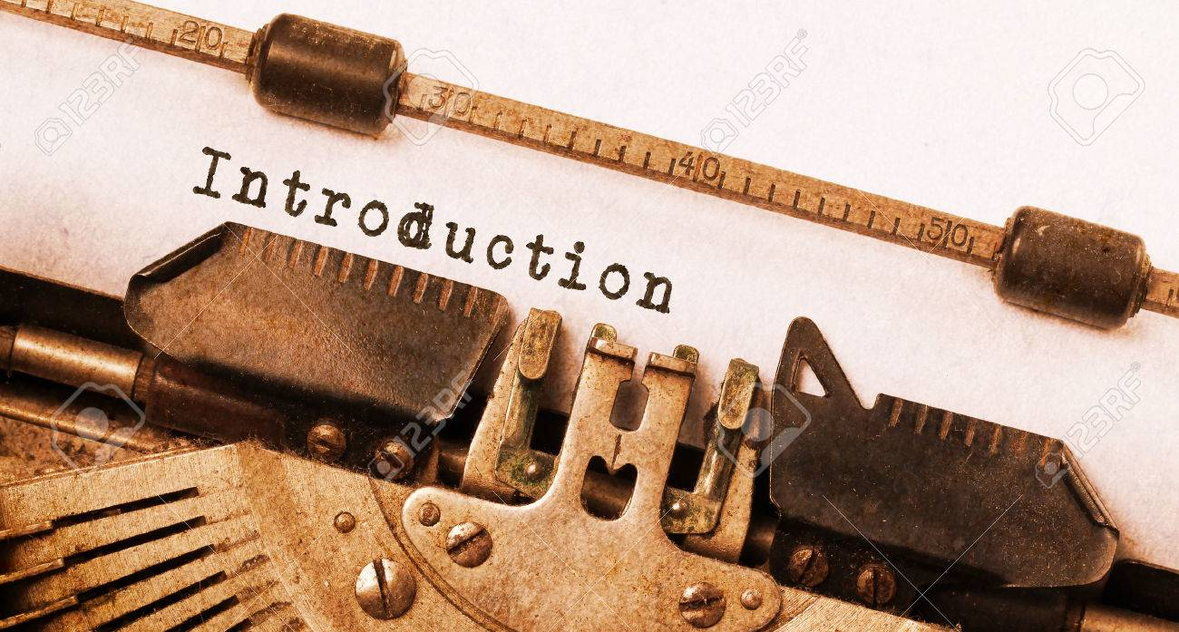 Vintage inscription made by old typewriter, introduction Stock Photo - 28468736