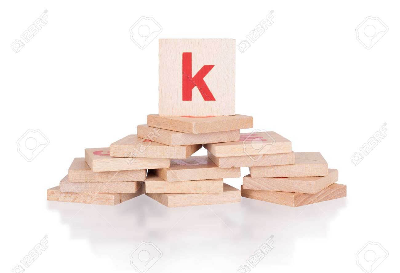 alphabet abstract of vintage wooden blocks letter k stock photo 31032821